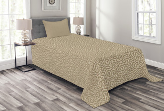 Abstract Curve Lines Bedspread Set