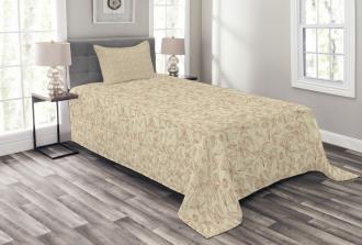 Retro Art Nouveau Bedspread Set