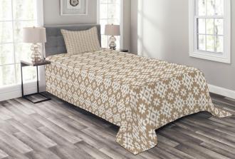 Diamond Pattern Dots Bedspread Set