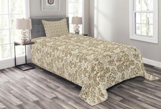 Grunge Vintage Flowers Bedspread Set