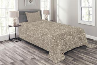 Circular Composition Lace Bedspread Set