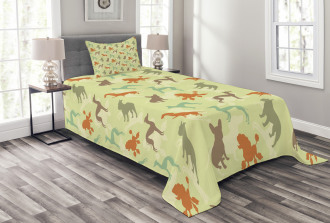 Pure Breed Animals Bedspread Set