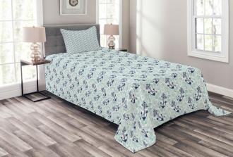 Ocean Drop Navy Rope Bedspread Set