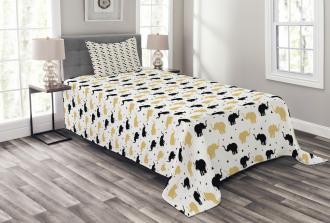 Silhouettes Geometric Bedspread Set