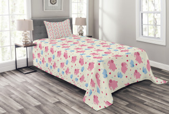 Hearts Dots Lovely Zoo Bedspread Set