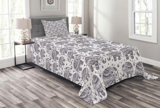 Ethnic Mandala Vintage Bedspread Set