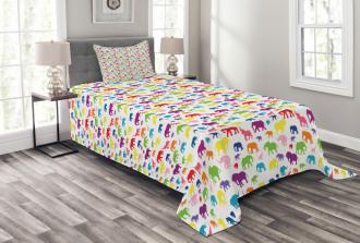 Colorful Safari Fauna Bedspread Set