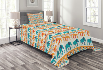 Exotic Geometric Art Bedspread Set
