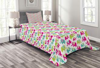 Colorful Floral Joyful Bedspread Set