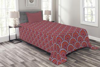 Floral Zigzag Lines Bedspread Set