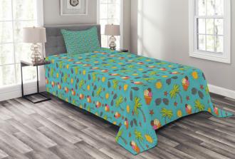 Vivid Cartoon Summer Bedspread Set