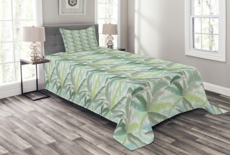 Leafy Green Branches Bedspread Set