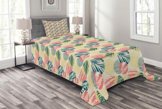 Grunge Brazil Leaves Bedspread Set