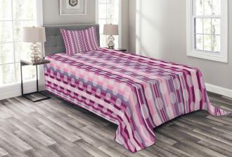 Stripes Retro Style Bedspread Set