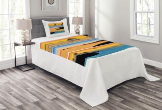 Island Design Banner Bedspread Set