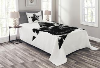 Star Shape Grunge Bedspread Set