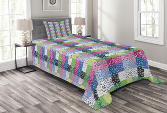 Checkered Funky Bedspread Set
