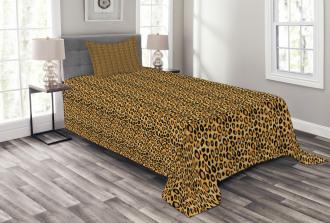 Wild Feline Tile Bedspread Set