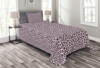 Girly Pink Black Bedspread Set