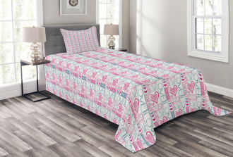 Love You Calligraphy Bedspread Set
