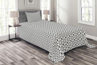 Monochrome Foliage Bedspread Set