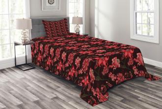 Paisley Flower Pattern Bedspread Set