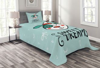 Funny Cartoon Dog Bedspread Set