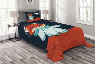 Fox Cosmonaut Space Bedspread Set