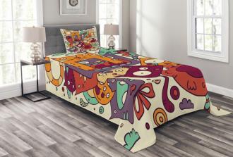 Absurd Doodle Bedspread Set