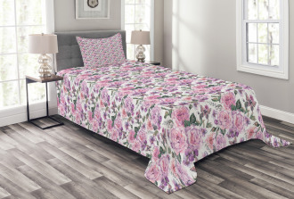 Swallowtails and Roses Bedspread Set
