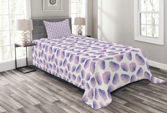 Blended Watercolor Petal Bedspread Set
