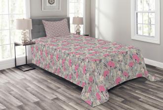 Repeating Dandelions Bedspread Set