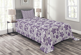 Stylized Petals Curves Bedspread Set