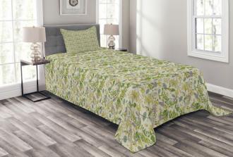 Pastel Shade Nature Bedspread Set