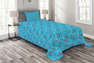Wavy Stems and Branches Bedspread Set
