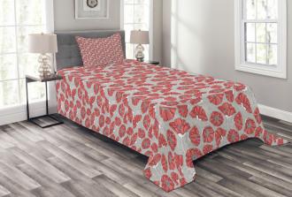 Poppy Petals Polka Dots Bedspread Set