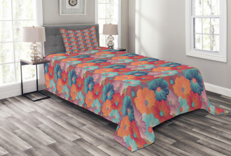 Overlapped Flower Petals Bedspread Set