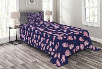 Garden Art Pink Poppies Bedspread Set