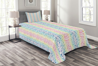 Color Transition Dots Bedspread Set