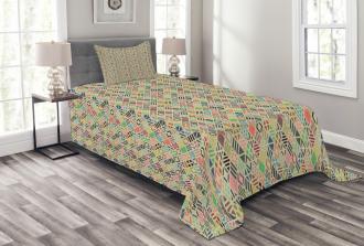 Patchwork Art Rhombus Bedspread Set