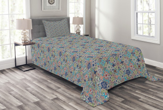 Patchwork Mosaic Tiles Bedspread Set