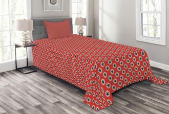 Patriotic Theme Stars Bedspread Set