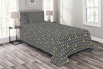 Simplistic Rhombus Bedspread Set