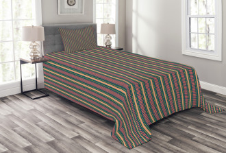 Brush Stroke Effect Bedspread Set