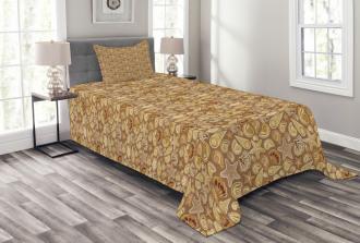 Sea Cone and Starfish Bedspread Set