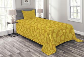 Stylized Ornamentals Bedspread Set