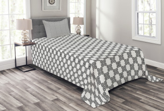 Curved Lines Mosaic Bedspread Set