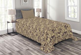 Arabic Traditional Floral Bedspread Set