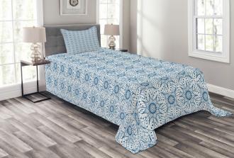 Dutch Floral Tile Bedspread Set