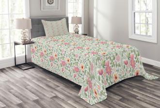 Wildflower Botanic Theme Bedspread Set